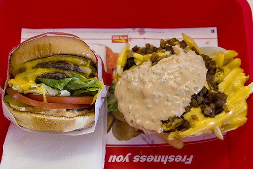 Double-Double Animal Style and Well Done Fries Animal Style