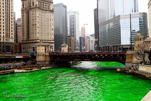 St Patricks Day - Green Chicago by Kamil Dziedzina Photos, on Flickr