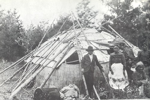 Chippewa Wigwam with birch bark cover