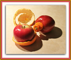 Inside Out, Upside Down Fruit Art (bigbrowneyez) Tags: abstract fruit fun design juicy shadows sweet creative tasty fresh delicious peel crunchy artful clever nutritious workofart buoni fruitart fruti vitamens insideoutupsidedownfruitart