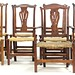 76. Assembled Set of (10) Country Chippendale Style Dining Chairs