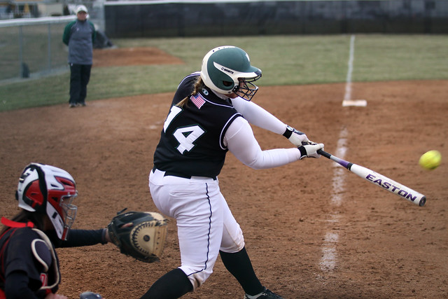 Senior Skye Boris went 3-for-3 in game two, hitting a triple and double while knocking in three runs against Dominican. Copyright 2013; Wilmington University. All rights reserved.