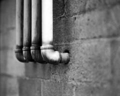 Pipes (alanabramsphotography) Tags: blackandwhite bw film mediumformat shanghai pentax pipes pipe 6x7 piping 67 16528 shanghaigp3 165mm