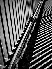 387_2436_26-03-13 (homewurks) Tags: shadow blackandwhite bw white black geometric monochrome contrast john photography spring pattern shadows angle pavement path patterns angles rail monochromatic walkway rails railings hopkins angled homewurks