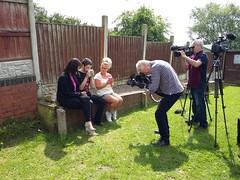 Film crews at Ryans