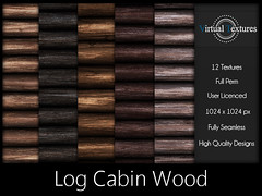 [VT] Log Cabin Wood 1 (VirtualTextures) Tags: textures secondlife logs cabin wood lodge rustic realistic 3d