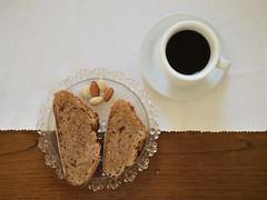 Sunday healthy breakfast (lorenzog.) Tags: sunday healthybreakfast 2016 morningbreakfast ilobsterit bread honey almonds coffee breakfast wholebread espresso moka italianbreakfast nikon d300