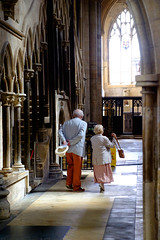 Visitors (David W Tait) Tags: visitors minster beverley indoors interior stone church