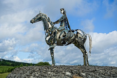 Chieftain (gabi-h) Tags: sligo roscommon ireland hilltop horse rider statue sculpture gabih rocky clouds sky boyle irishchieftain