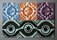 Peggy Angus tiles for Carter & Co (robmcrorie) Tags: peggy angus tiles carter co sun moon 1950s mid century modern ceramic eye