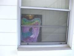 Sighting (giveawayboy) Tags: imaginaltorso window treatment display installation tampa artist giveawayboy billrogers microartshow sighting habituation