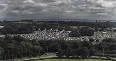 Daresbury Laboratory - View of Creamfields camping (joanjbberry) Tags: daresburylaboratory daresbury birdseyeview outdoors