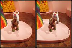stuffed sculpture (Robbie1) Tags: beads cooperhewitt crosseye newyorkcity sculpture stereo stuffed