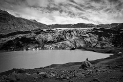 Slheimajkull glacier (michael.mu) Tags: leica m240 leicasummicronm1235mmasph leicasummicron35mmf20asph iceland landscape bw blackandwhite glacier slheimajkull arcanumglaciertours nordicvisitor silverefexpro