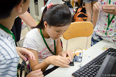 DSC_0733 (roger528852momo) Tags: 2016           little staff person explore summer camp hokuzine ever worker china youth corps ying qiao elementary school arduino robot food processing workshop taipei taiwan roger huang roger528852momo