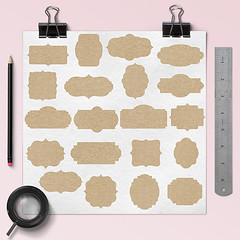 Kraft Paper Frame Clipart (northseastudio) Tags: clipart etsy frames label tags
