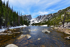 Dream Lake (markwhitt) Tags: markwhitt markwhittphotography colorado usa rockymountainnationalpark nationalpark usnationalpark dreamlake lake water snow altitude trees nature scenic scenery travel adventure landscape beautiful beauty clouds hartmuthft