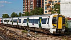 387128 (JOHN BRACE) Tags: 2014 bombardier derby built class 387 electrostar emu 387128 seen east croydon station thameslink white livery