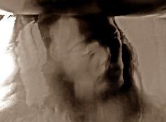 2016-08-22 portrait soluble (17)f (april-mo) Tags: soluble portrait experimentaltechnique experimental creative foil distortions reflection art woman womanportrait monochrome solubleportrait
