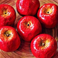apples (Renee Rendler-Kaplan) Tags: apples real not red fruit ordecoration colorful indoors inside iphone iphoneography reneerendlerkaplan august 2016 six 6 consumerist woodenplate anappleaday backtoschool anappleforyourteacher