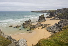 Bedruthan Steps. (CarolynEaton) Tags: bedruthansteps cornwall england beach