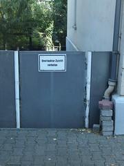 unerlaubtes: verboten (mkorsakov) Tags: dortmund hrde schild sign verbot forbidden zaun fence