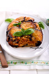 Aubergine timbale (manyakotic) Tags: appetizer aubergine bake cheese dinner dish eggplant filling food healthy homemade layered pasta pormigiana sauce savory slice snack spaghetti spicy stuffed timbale tomato vegetarian