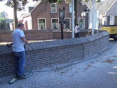 P9134693 (Hervormd-Sprang.nl) Tags: restauratie kerk muur voeg schoonmaken