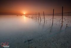 Kuwait - Fish net sunrise ( Saleh AlRashaid / www.Salehphotography.net) Tags: canon 5ds 1635 salehalrashaid kuwait kuwaitphoto