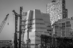 architectural forms and movements, construction, from the Highline, Manhattan, NYC, Nikon D40, Sigma 18-50mm EX DC MACRO, 9.17.16 (steve aimone) Tags: architecture skyscrapers architecturalforms construction highline chelsea manhattan nyc blackandwhite monochrome monochromatic nikond40 sigma1850mmexdcmacro buildings