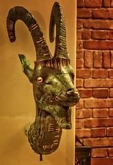 Head of an Ibex from the bow of a cult bark (boat) 21st Dynasty Egypt 943-720 BCE partly gilded bronze (mharrsch) Tags: ibex goat figurehead bark barque boat sailingvessel ancient egypt 21stdynasty thirdintermediateperiod sculpture neuesmuseum berlin germany mharrsch