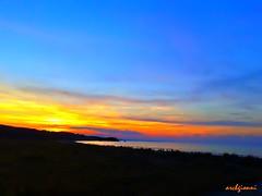 tramonto a punta penna (archgionni) Tags: mare sea adriatico vasto abruzzo italia italy cielo sole sky sun nuvole clouds tramonto sunset christiangroup