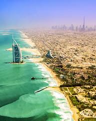 Dubai from Above (Plotz Photography) Tags: dubai uae unitedarabemirates emirates middleeast coast coastline persiangulf water beach aerial photography travel worldtravel luxury burjalarab burjkhalifa vacation beautifuldestinations destinations beautiful