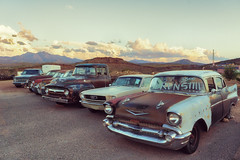 These Cars Run! (Ralph Graef) Tags: car oldtimer roadside arizona usa decay dilapidated parking clouds evening traffic travel