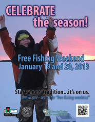 Jan. 19-20 is Free Winter Fishing Weekend in Wisconsin (Dan Small Outdoors) Tags: wisconsin icefishing dnr wisconsindnr dansmall jeffkelm outdoorsradio freefishingweekend