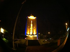 Police monument (Edjp Rsd) Tags: indonesia police fisheye jawa monumen surabaya iphone4 uploaded:by=flickrmobile flickriosapp:filter=nofilter