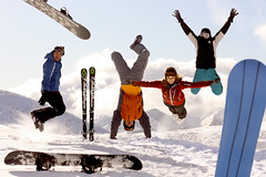 the happiest (Rona Keller) Tags: winter friends sky snow cold snowboarding flying jumping skiing skiresort handstand seb gregor snowboards frenchalps coldness chrisse lajoueduloup ronakeller pistswintersports