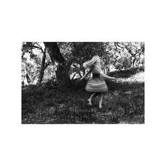 (light ☀ leaks) Tags: longexposure blackandwhite nature girl forest walking landscape blackwhite long exposure sitting dress running blond spinning blonde topanga twirling