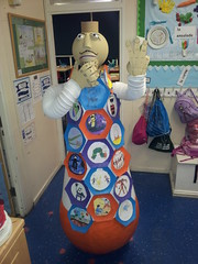 OranGenie at Queenswell School (geraintedwards) Tags: sculpture weebles genies tellingstories artinschools