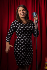 Molly_Sanchez_A0311 (ScottRKline) Tags: comedienne polkadotdress mollysanchez