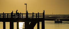 More than one way to fish (noompty) Tags: silhouette sunrise boat fishing pentax jetty brisbane queensland k5 carlzeiss zk shorncliffe makroplanart2100