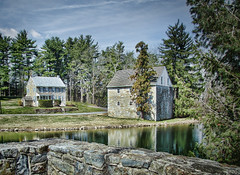 Stone Wall, House & Barn (nfin10) Tags: house stone wall barn canon reflections powershot canonpowershot canonpowershotsx210 nfin10