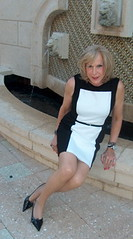 VC Black + White ColorBlock Sheath Dress (lwhitets) Tags: park stream gulf january friday