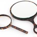 155. Vintage Faux Tortoise Shell Magnifying Glass and Mirror