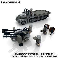 LEGO Custom WW2 SdKfz 7-1 Flak 38 Minifig (LA-Design2012) Tags: 1 tank lego wwii 7 ww2 vehicle instructions pdf custom xml armored flak 38 moc sdkfz bauanleitung ladesign flakvierling