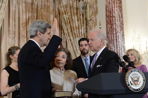 Vice President Biden Swears In Secretary Kerry, From FlickrPhotos