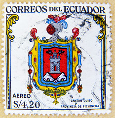 beautiful air mail stamp Ecuador sello aero S 4.20 coat of arms flag Canton Quito Provincia de Pichincha selo Equador timbre quateur     frimrke frimerke frimrke Ecuador   francobollo znaczek pocztowy Ekwador levlblyeg (stampolina) Tags: beautiful quito ecuador coatofarms stamps flag stamp timbre aero airmail equador selo bolli sello heraldic quateur briefmarke francobollo pichincha  timbres frimrke bollo frimrke ekwador frimerke      pastmarka  znaczekpocztowy   levlblyeg  ekvadora