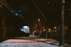 The Night Snow (courtody) Tags: nyc newyorkcity winter light snow newyork night nemo snowy westvillage gothamist 365 february gotham blizzard newyorknewyork 6thavenue greenwichvillage 2013 nighttimesnow 5dmarkiii winterstormnemo