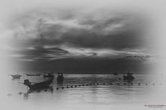Koh Tao Dream (Usstan) Tags: ocean sunset sea sky bw seascape water clouds lens landscape thailand boat nikon calm nikkor th kohtao locations kotao costal suratthani reflecions define niksoftware 1685mm d7000 silverefexpro