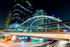 BTS-BRT Sky Walk at Bangkok (TheBonZa) Tags: bridge sky night canon thailand photo walk bangkok scene tokina brt bts 1116 tralvel 60d